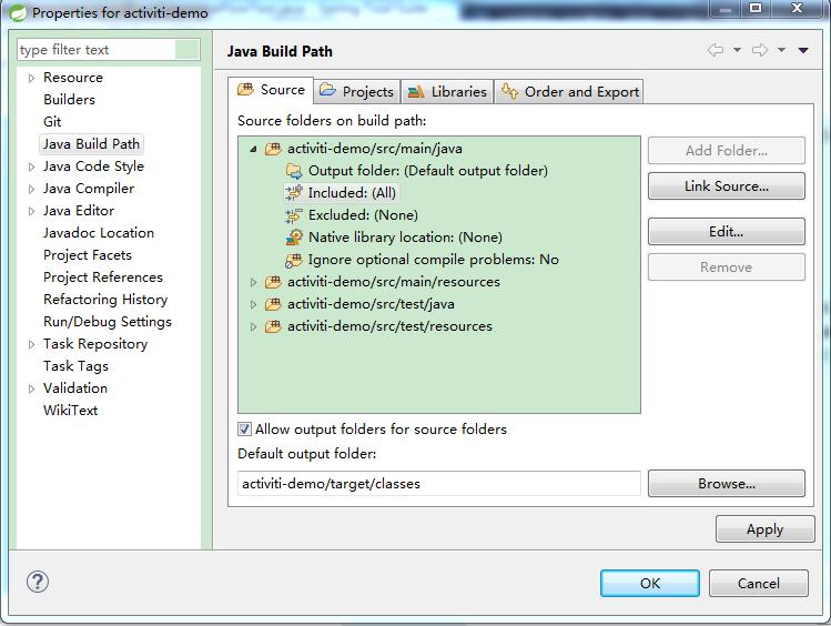 修改BuildPath